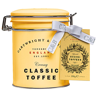 Classic Toffees, Karamellbonbon  von Cartwright & Butler in der Dose